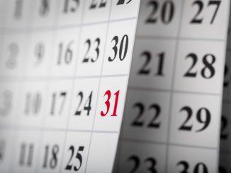 Kalenderblaetter weisen auf den Mai 2020 im Hinblick auf die neue Medizinprodukteverordnung hin