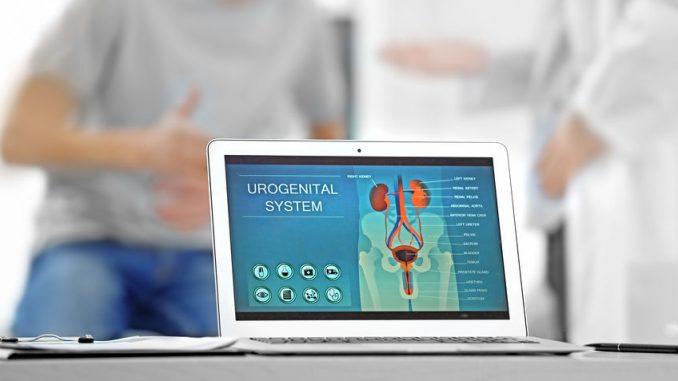Notebook in urologischem Behandlungszimmer