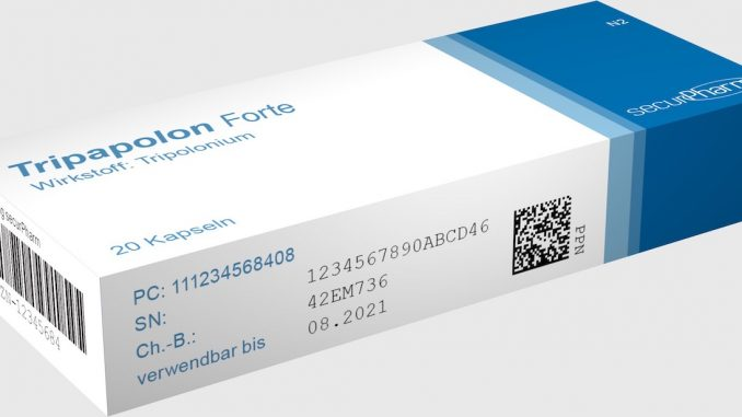 Arzneimittel-Musterpackung mit SecurPharm-Codierung