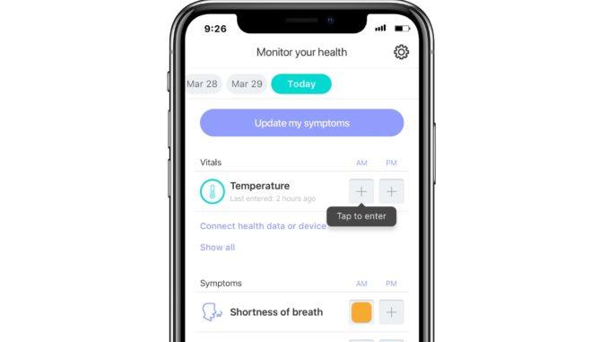 Screenshot der neuen Monitoring-App