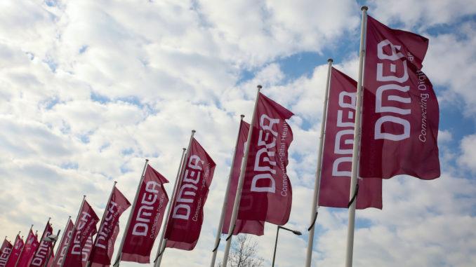 DMEA-Fahnen auf dem Berliner Messegelände