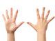 Vorder- und Rückseite einer menschlichen Hand