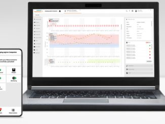 "Software ""teamplay myCare Companion"" auf Notebook und Smartphone"