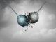 Streit (Symboldarstellung kollidierende Stahlkugeln)