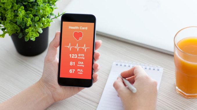 Verwendung einer Gesundheits-App