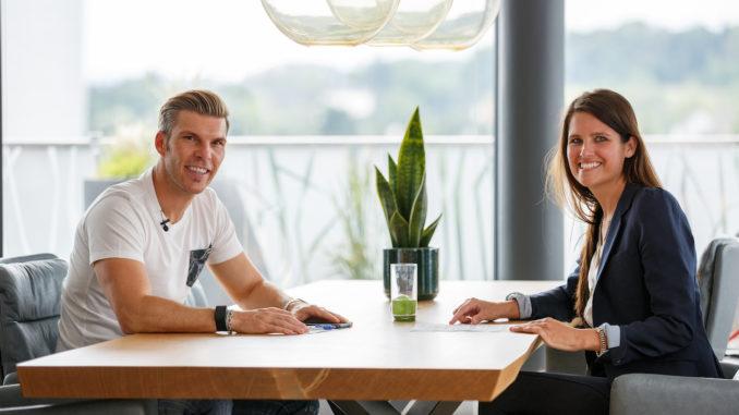 Runtastic-Co-Gründer Florian Gschwandtner und Instahelp-CEO Dr. Bernadette Frech