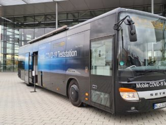 Setra-Bus als mobile COVID-19-Teststation