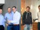 iAtros-Gründer (v.l.) Dr. med. Georges von Degenfeld, Professor Dr. med. Alexander Leber und Patrick Palacin mit Tink-Betreibern Dr. Julian Hueck und Dr. Marius Lissautzki