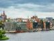 Blick auf Hafen und Innenstadt von Rostock
