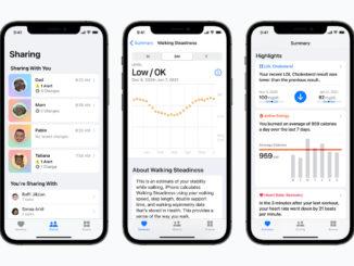 iPhone mit geöffneter Health-App