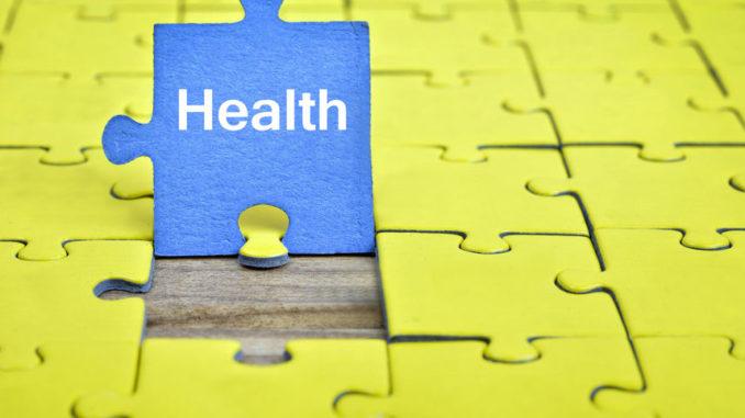 """Puzzleteile mit dem Wort """"Health"""""""