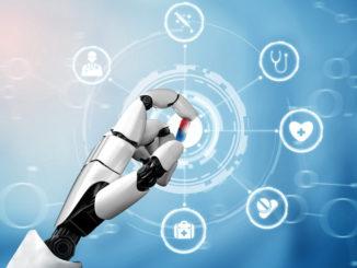 3D Rendering Pflegeroboter