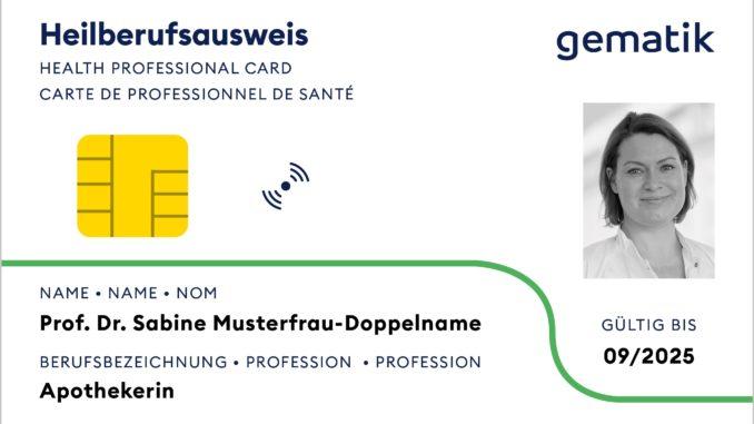 Heilberufsausweis (Muster)